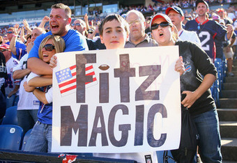 """Tebow Mania"" will have to compete against ""Fitz Magic"", if the Bills bring in QB Tim Tebow to compete against incumbent starter Ryan Fitzpatrick. - AP"