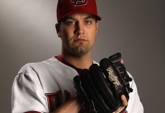 SCOTTSDALE, AZ - FEBRUARY 21:  Kevin Mulvey #57 of the Arizona Diamondbacks poses for a portrait at Salt River Fields at Talking Stick on February 21, 2011 in Scottsdale, Arizona.  (Photo by Ezra Shaw/Getty Images)