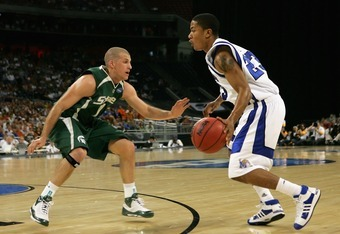 The last time Michigan State played Memphis, Drew Neitzel was forced to defend Derrick Rose. Yikes. The matchup isn't as ugly this time around, but the theory looms in the air.