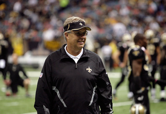NEW ORLEANS, LA - OCTOBER 31: Defensive coordinator Gregg Williams of the New Orleans Saints looks on prior to the game against the Pittsburgh Steelers at the Louisiana Superdome on October 31, 2010 in New Orleans, Louisiana. (Photo by Matthew Sharpe/Gett