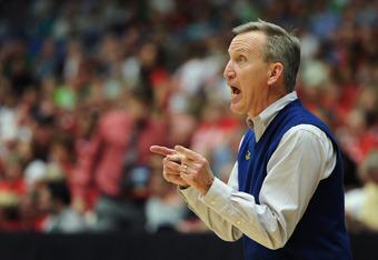 Belmont head coach Rick Byrd