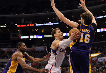 Andrew Bynum and Pau Gasol make things tough on opposing players.