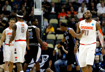 Jardine (11) and the Orange benefited from two key calls down the stretch