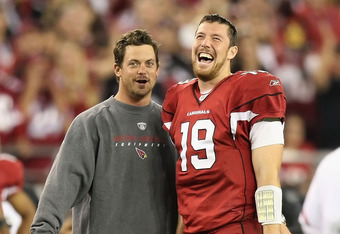 Kevin Kolb spent nearly half of 2011 on the bench, while John Skelton lead the team to a late season resurgence.
