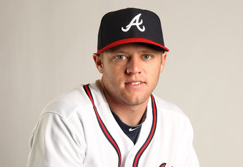 LAKE BUENA VISTA, FL - FEBRUARY 21:  Tyler Pastornicky #77 of the Atlanta Braves during Photo Day at  Champion Stadium at ESPN Wide World of Sports of Complex on February 21, 2011 in Lake Buena Vista, Florida.  (Photo by Mike Ehrmann/Getty Images)
