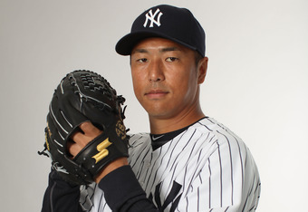 TAMPA, FL - FEBRUARY 27:  Hiroki Kuroda #18 of the New York Yankees poses for a portrait during the New York Yankees Photo Day on February 27, 2012 in Tampa, Florida.  (Photo by Nick Laham/Getty Images)