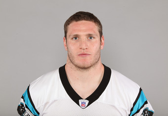 CHARLOTTE, NC - CIRCA 2010: In this handout image provided by the NFL, Dan Connor of the Carolina Panthers poses for his 2010 NFL headshot  circa 2010 in Charlotte, North Carolina. (Photo by NFL via Getty Images)