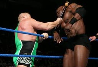 Finlay lays waste to Bobby Lashley.
