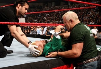 Finlay aids Hornswoggle.