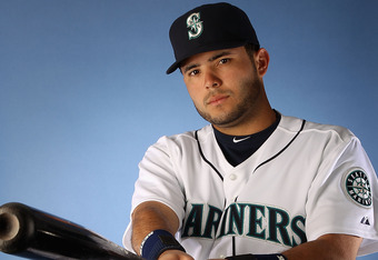 PEORIA, AZ - FEBRUARY 21:  Jesus Montero #63 of the Seattle Mariners poses for a portrait during spring training photo day at Peoria Stadium on February 21, 2012 in Peoria, Arizona.  (Photo by Christian Petersen/Getty Images)