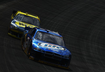 Keselowski held off a furious charge from Matt Kenseth in the closing laps