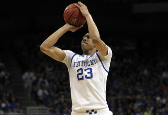 LOUISVILLE, KY - MARCH 17: Anthony Davis #23 of the Kentucky Wildcats attempts a shot in the first half against the Iowa State Cyclones during the third round of the 2012 NCAA Men's Basketball Tournament at KFC YUM! Center on March 17, 2012 in Louisville,