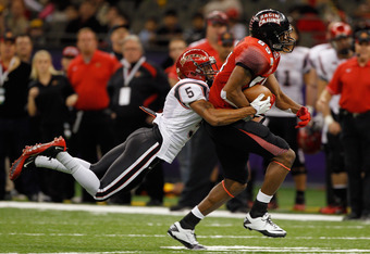 Green had five receptions for 121 yards and a touchdown against the San Diego State Aztecs in the New Orleans Bowl.