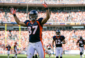 Eric Decker should have more touchdowns to celebrate in 2012