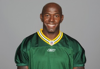 GREEN BAY, WI - CIRCA 2011: In this handout image provided by the NFL, Donald Driver of the Green Bay Packers poses for his NFL headshot circa 2011 in Green Bay, Wisconsin.  (Photo by NFL via Getty Images)