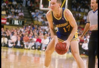 1989-1990:  Forward Chris Mullin of the Golden State Warriors in action  with the basketball. Mandatory Credit: Ken Levine  /Allsport