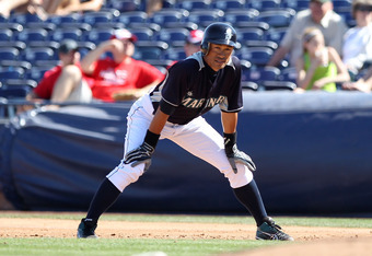 PEORIA, AZ - MARCH 06:  Ichiro Suzuki #51 of the Seattle Mariners in action during the spring training game against the Cincinnati Reds at Peoria Stadium on March 6, 2012 in Peoria, Arizona.  (Photo by Christian Petersen/Getty Images)