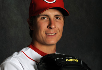 GOODYEAR, AZ - FEBRUARY 25:  Homer Bailey of the Cincinnati Reds poses for a portrait during a photo day at Goodyear Ballpark on February 25, 2012 in Goodyear, Arizona. (Photo by Rich Pilling/Getty Images)