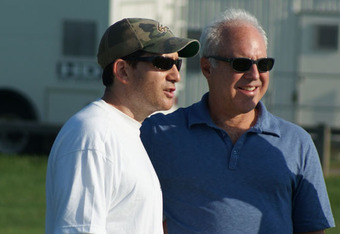GM Howie Roseman with owner Jeffrey Lurie