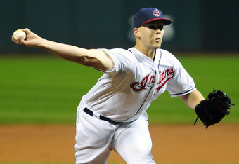 CLEVELAND, OH - SEPTEMBER 23: Starting pitcher Justin Masterson #63 of the Cleveland Indians pitches during the first inning against the Minnesota Twins at Progressive Field on September 23, 2011 in Cleveland, Ohio. (Photo by Jason Miller/Getty Images)