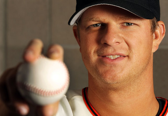 SCOTTSDALE, AZ - MARCH 01:  Matt Cain #18 of the San Francisco Giants poses during spring training photo day on March 1, 2012 in Scottsdale, Arizona.  (Photo by Jamie Squire/Getty Images)