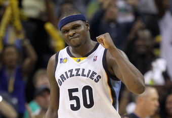 Zach Randolph was a force in leading the No. 8 seed Grizzlies to a first-round upset of the top-seeded Spurs last year.