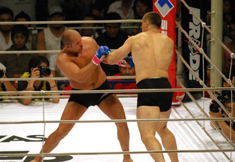 PRIDE Heavy Weight Title Match, Emelianenko Fedor VS Mirko Crocop (Photo by Tomokazu Tazawa/Getty Images)