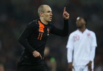 Robben had an incredible performance against England