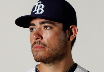 PORT CHARLOTTE, FL - FEBRUARY 29:  Matt Moore #55 of the Tampa Bay Rays poses for a portrait at the Charlotte Sports Park on February 29, 2012 in Port Charlotte, Florida  (Photo by Jonathan Ferrey/Getty Images)