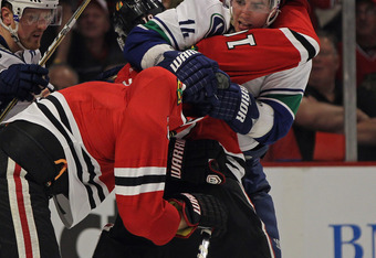Canucks vs. Blackhawks -- your typical chippy affair -- Mar 21/2012