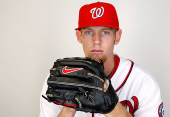 VIERA, FL - FEBRUARY 28:  Stephen Strasburg #37 of the Washington Nationals poses during photo day at Space Coast Stadium on February 28, 2012 in Viera, Florida.  (Photo by Mike Ehrmann/Getty Images)