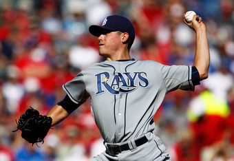 ARLINGTON, TX - SEPTEMBER 30:  Pitcher Matt Moore #55 of the Tampa Bay Rays pitches in the first inning while taking on the Texas Rangers during Game One of the American League Division Series at Rangers Ballpark in Arlington on September 30, 2011 in Arli