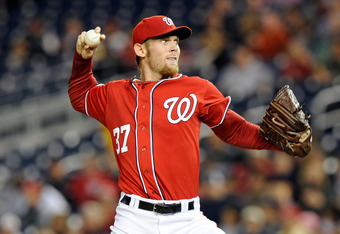 WASHINGTON, DC - SEPTEMBER 17:  Stephen Strasburg #37 of the Washington Nationals pitches against the Florida Marlins at Nationals Park on September 17, 2011 in Washington, DC.  (Photo by Greg Fiume/Getty Images)
