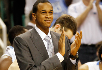 GREENSBORO, NC - MARCH 16:  John Henson #31 of the North Carolina Tar Heels reacts from the bench against the Vermont Catamounts during the second round of the 2012 NCAA Men's Basketball Tournament at Greensboro Coliseum on March 16, 2012 in Greensboro, N