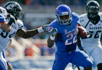Doug Martin ran for over 1,200 yards in each of his final two seasons at Boise State
