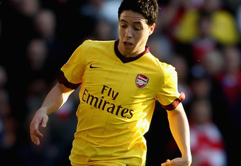 WEST BROMWICH, ENGLAND - MARCH 19:  Samir Nasri of Arsenal in action during the Barclays Premier League match between West Bromwich Albion and Arsenal at The Hawthorns on March 19, 2011 in West Bromwich, England.  (Photo by Scott Heavey/Getty Images)
