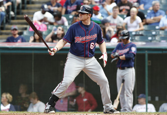 Twins first baseman/outfielder Chris Parmelee