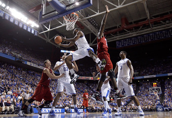 LEXINGTON, KY - DECEMBER 31: Darius Miller #1 of the Kentucky Wildcats shoots the ball during the game against the Louisville Cardinals at Rupp Arena on December 31, 2011 in Lexington, Kentucky. (Photo by Andy Lyons/Getty Images)