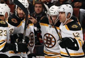 Brian Rolston has found success with Chris Kelly and Benoit Pouliot on Bruins' third line