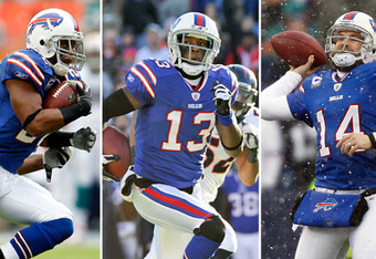 The Bills are led by former undrafted free agent Fred Jackson and seventh-rounders Steve Johnson and Ryan Fitzpatrick.  NFL.com