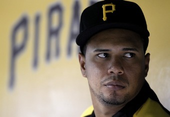 PITTSBURGH, PA - SEPTEMBER 10:  Jose Tabata #31 of the Pittsburgh Pirates looks on against the Florida Marlins during the game on September 10, 2011 at PNC Park in Pittsburgh, Pennsylvania.  (Photo by Justin K. Aller/Getty Images)