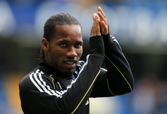 Expect to see Didier Drogba in the second leg.