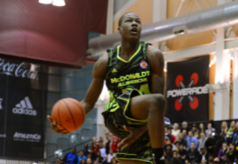 Muhammad had a perfect score at the Powerade Jam Fest in Chicago on Monday night.