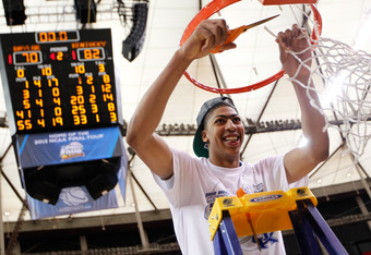 Anthony Davis is looking to cut down the nets again after the Wildcats win the 2012 National Championship