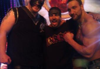 Abyss, Chavo Guerrero and Chris Masters at a Ring Ka King taping. Credit: twitter.com/chrismasters310