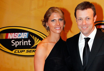 LAS VEGAS, NV - DECEMBER 02:  (R) NASCAR driver Matt Kenseth and wife Katie Kenseth attend the NASCAR Sprint Cup Series Champion's Week Awards Ceremony at Wynn Las Vegas on December 2, 2011 in Las Vegas, Nevada.  (Photo by Todd Warshaw/Getty Images for NA