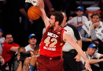 Love, who leads in the NBA in double-doubles, earned his first All-Star appearance this year.
