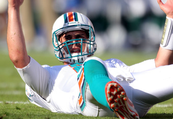 If the Dolphins can pick themselves up off the ground, it may be in Matt Moore's hands.