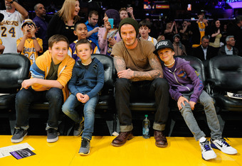 David Beckham, the family man.