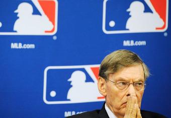 NEW YORK, NY - NOVEMBER 22:  Major League Baseball Commissioner Bud Selig attends a news conference at MLB headquarters on November 22, 2011 in New York City. Selig announced a new five-year labor agreement between Major League Baseball and the Major Leag